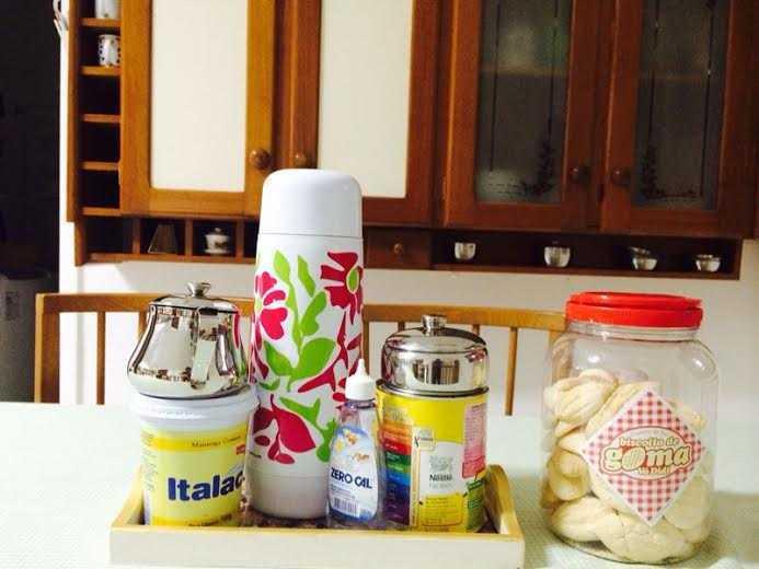biscoito paisagem na cozinha