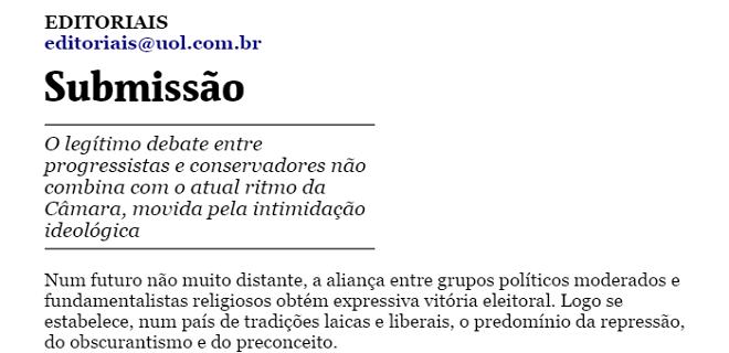 folha editorial