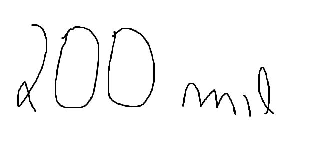 200 mil